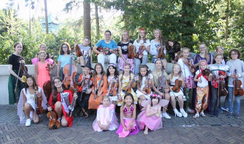 Het Eftelingorkest van vioolschool Fiedelino uit Drunen in 2018.