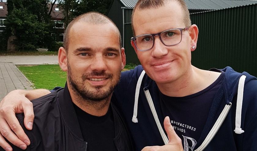 Wesley Sneijder en Erwin van Veldhuizen.