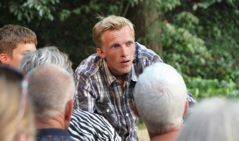 Hoofdrolspeler en initiatiefnemer Folkert Wesseling. (Foto: Andries de Jong)