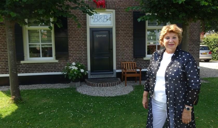 B&B Spoor1880 is gevestigd in het voorhuis van de woonboerderij van Alie van Lopik-De Jong. (Foto: Eline Lohman)
