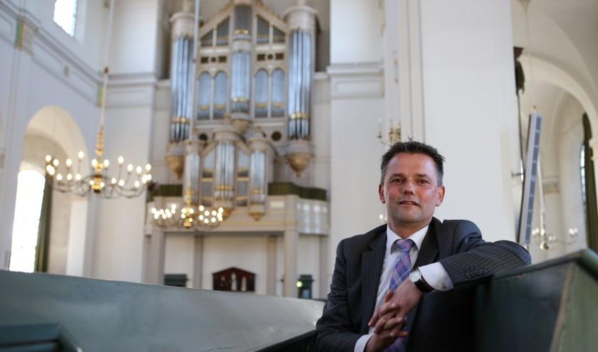 Organist André van Vliet. Foto: Jan de Rooij