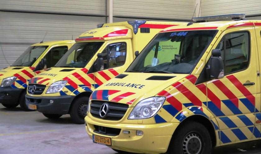 De ambulances halen nergens in de regio de normtijd van 15 minuten. Aan verbetering wordt gewerkt. (archieffoto GvS)