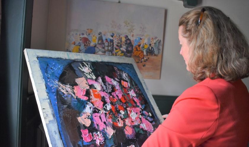 Margriet van Seumeren zal bij de kunstlezing in oktober acht werken taxeren. (Eigen foto)