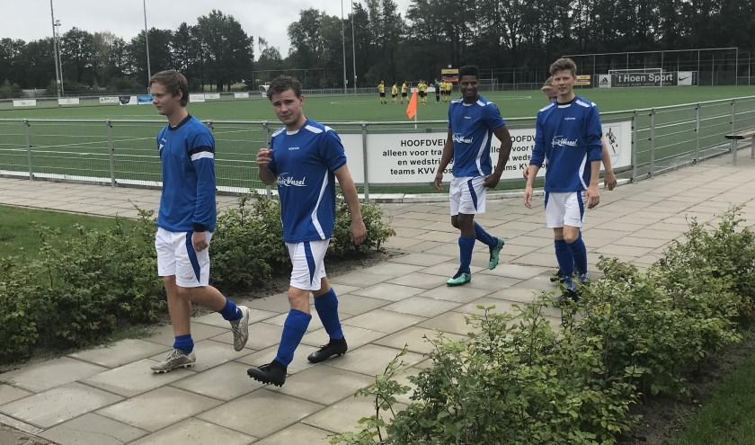 SV De Lutte speelde vrijdag volgens trainer René Belt prima op het regiotoernooi bij KVV Losser. Foto: Bart Bulter