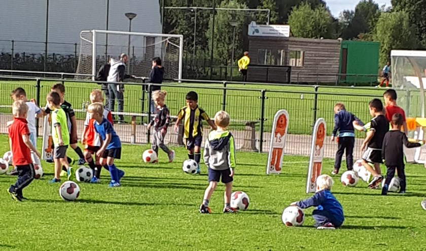 SEP mini-mini voetbaltraining.