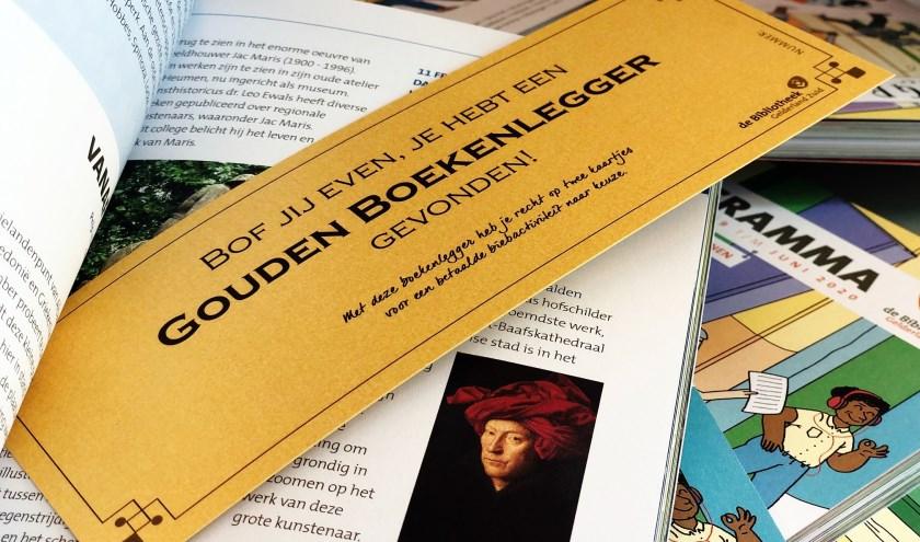 Vind de Gouden Boekenleggers in de programmaboekjes van de bieb.
