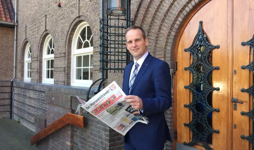 De Sliedrechtse burgemeester Bram van Hemmen nodigt Sliedrechters uit voor een gesprek over vuurwerk. (Foto: Nanda van Heteren)