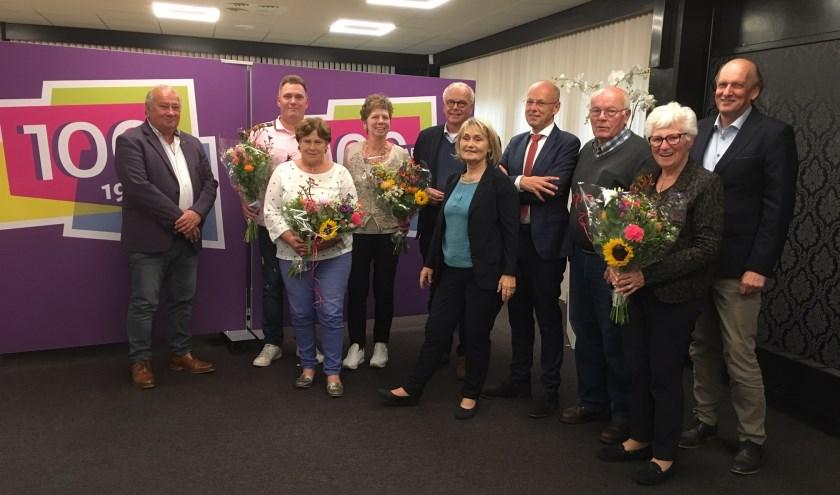 Groepsfoto met de genomineerden, juryleden van links naar rechts: André Aansorgh, Harry Rupert, Marja de Waal, Bas van Wakeren en Jos van der Wal