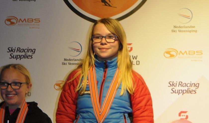Anouk van Maren op 'Lowland Championships'. Foto: M. van Maren