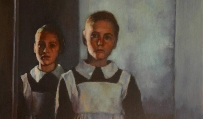 Het schilderij 'Twee Meisjes' werd uit ruim 8000 kunstenaars uit negentig landen geselecteerd.