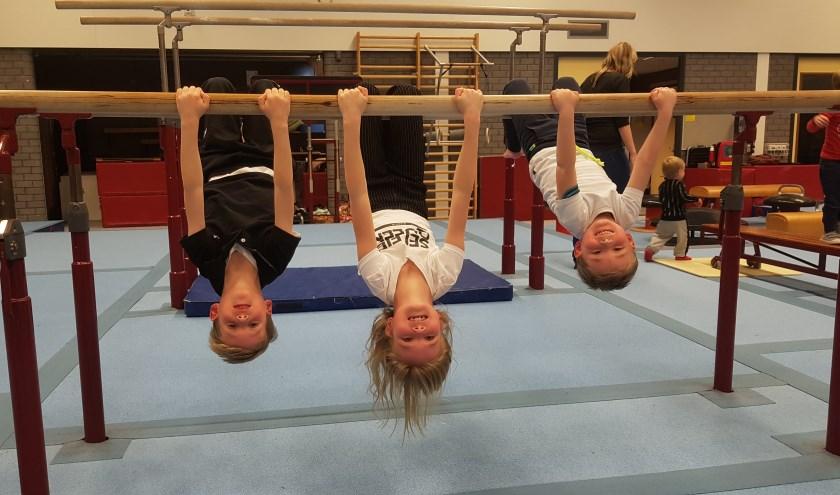 Kinderen in actie tijdens de Nationale Sportweek.