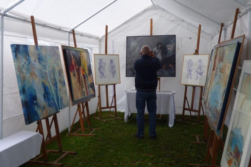 Expositie bij een van de kunstenaars.