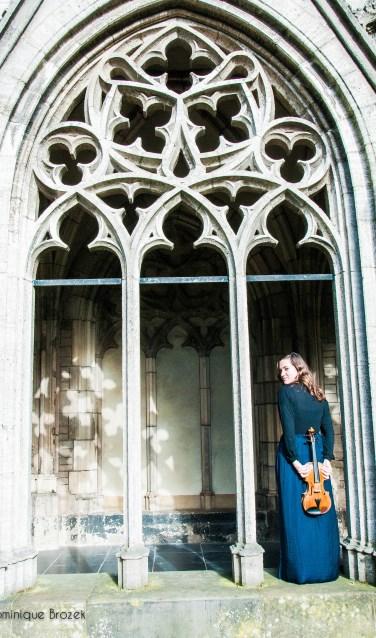 Madeleine Brozek, de nieuwe viooldocente bij CultuurLocaal (foto: Dominique Brozek)