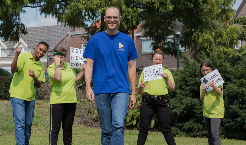 Rohalt Janssens voelt zich enorm gesteund in zijn sponsoractie voor het Opleidingsfonds van Samen Top.