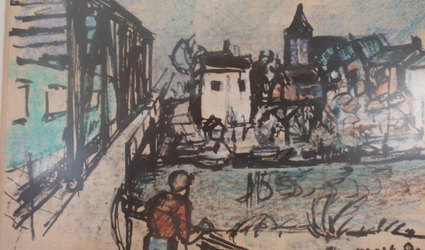 Gezicht op Tricht, 1980. (foto: schilder Jan van Anrooy)