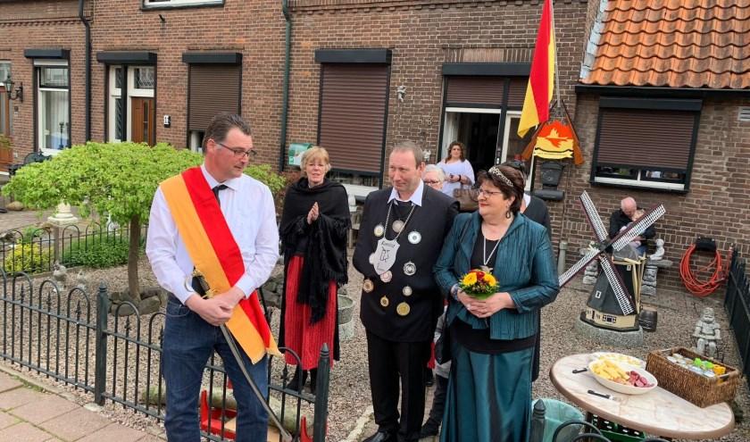 Ronny en Diana waren het koningspaar van 2018 in Tuindorp. (foto: Nickylin Braam)