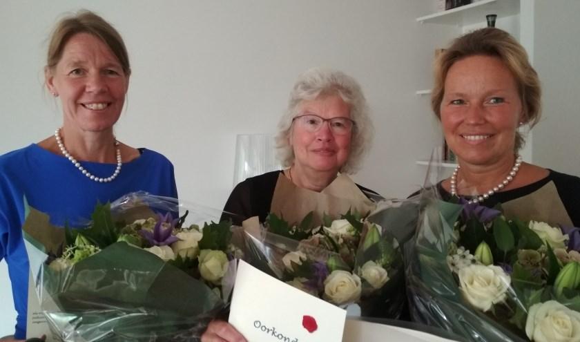 Marjan Hoogland, Willy van Kuijk en Marlies van der Staaij.