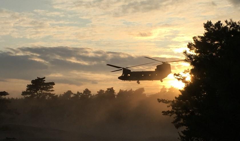Dinsdagavond 10 september landt er ineens een Chinook helicopter op het Beekhuizerzand.
