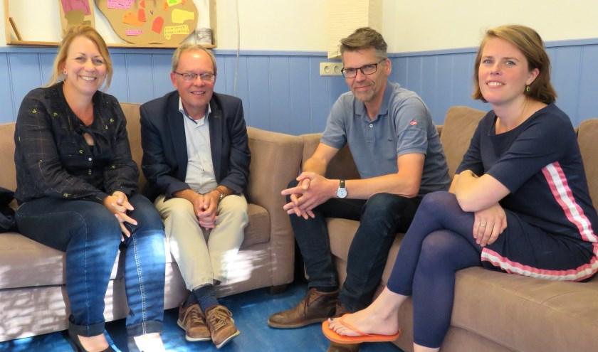 Loeki van der Laan, Matthijs Janssen, Egbert van der Stouw en Hannah van Toor.