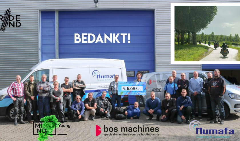 De deelnemers zijn trots op het opgehaalde bedrag voor MIND Young Academy (Foto: Numafa Cleaning & Automation)