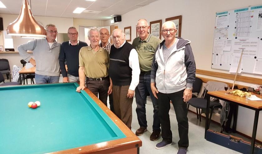 V.l.n.r.: Peter Wierixc, Henny Storm, Rene Pijnen, Koos Boets, Kees de Groot, Vic van Hoek en Frans Hopmans. Foto: Joseph G. van Oevelen.