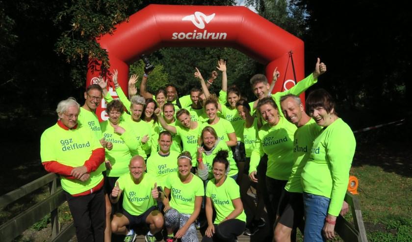 Team GGZ Delfland is klaar voor de Socialrun 2019! (Fotograaf: Annemarie Oorthuizen)