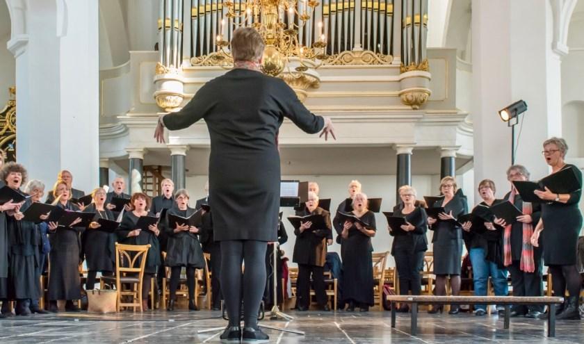 Het Madrigaal koor treedt op in de Sint Maartenskerk. Hier treft u ook kunstenaars en het Tiels carillon aan. (foto: Fred Reulink)