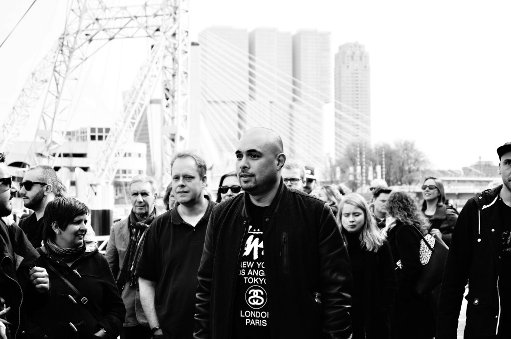Daniel Claessens speelt al jaren een belangrijke rol in de Rotterdamse straatkunstrevolutie. Samen met Dave Vanderheijden startte hij streetartplatorm Rewriters010. (Foto: Martine Kiers)  © DPG Media