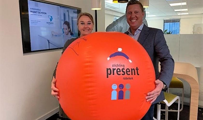 De bal onderweg naar de zevende ondernemer van dit jaar. (Foto: PR)
