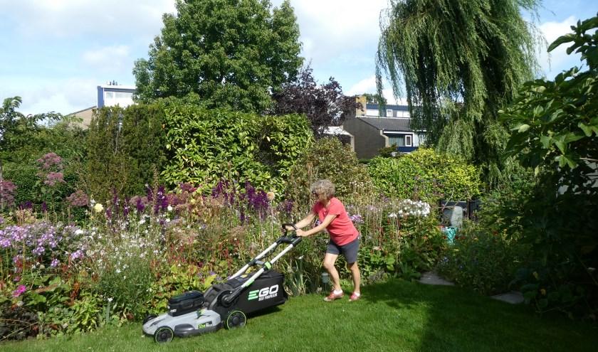 Ingrid stelt dit jaar voor de eerste keer haar tuin open bij de opentuinendag. Foto: Mariëlle van der Lee