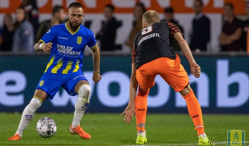 RKC liet in de met 1-3 verloren thuiswedstrijd tegen PSV opnieuw zien dat de ploeg goed en verzorgd kan voetballen. Het wordt echter wel tijd dat het team zichzelf gaat belonen. Foto: ProShots