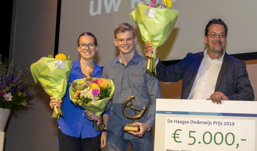 V.l.n.r. Mabel Buitenhuis, Henrik van der Vlugt en Vincent Dullaart