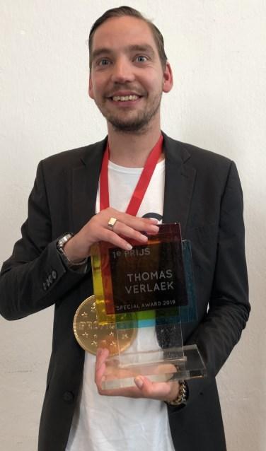 Kunstenaar Thomas Verlaek, werkzaam bij Aveleijns Atelier 't Meera in Enschede, won de Special Award 2019.