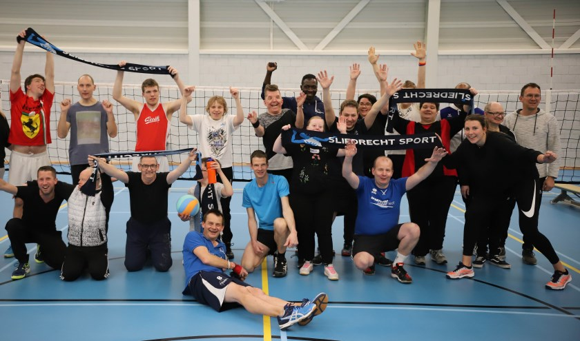 Uniek Volley bij Sliedrecht Sport. (Foto: Brian Cleton)