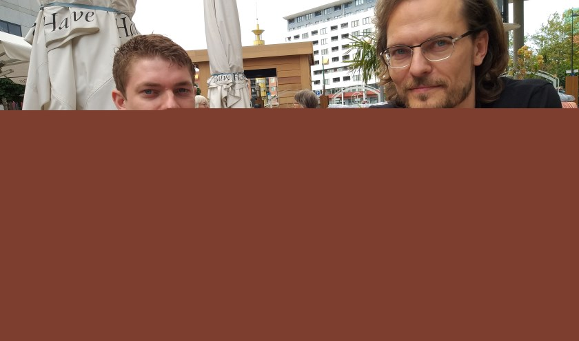 Tim Kortekaas ( l) en Anders Lee Larsen