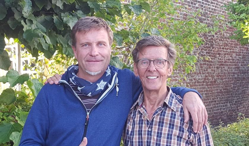 Winnaars Tinnepleintoernooi Chris Saurel ('t Zwijntje) en Johan Moraal (Hattem Pétanque).