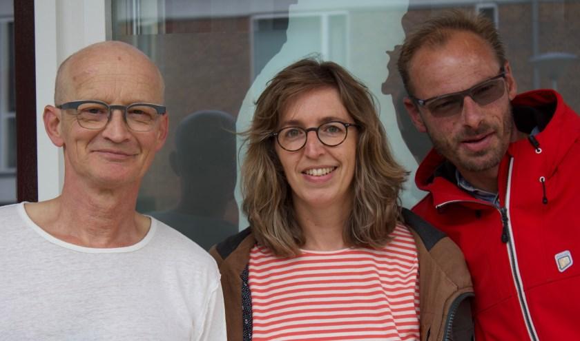 Hugo Graafland, Hester Ubels en Willem van der Kaaij.