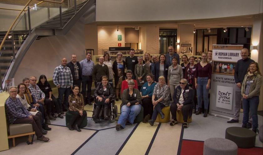 De groep die betrokken is bij de organisatie van Human Library Roosendaal.
