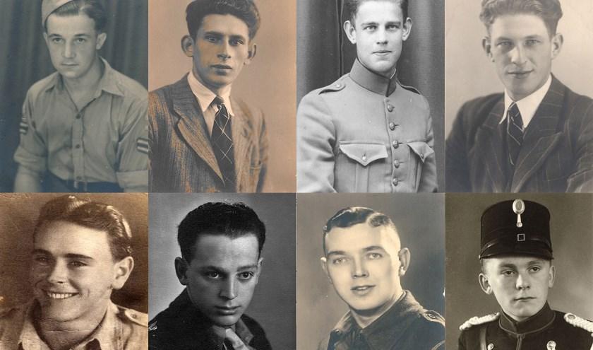 Fotobijschrift: Een paar portretten van Brabantse gesneuvelden uit de nieuwe digitale Eregalerij. Dat hun offers nooit worden vergeten (foto: BHIC)
