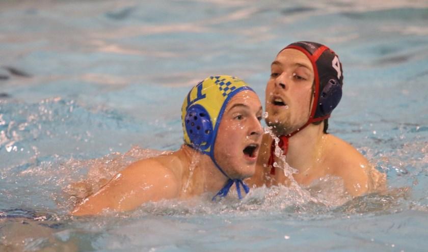 De waterpoloërs van ZPC Nunspeet gaan dit seizoen opnieuw voor handhaving in de Bond derde divisie. (Foto: George Hertel)
