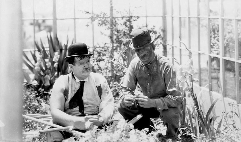 Zeldzame foto van de film Dirty Work (1933).
