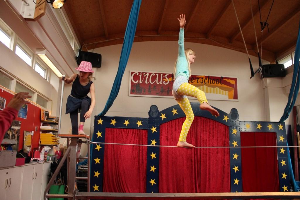 Circuslessen Wageningen Foto: Circus op de Utrechtse Heuvelrug © DPG Media