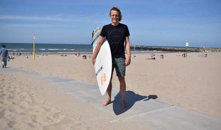 Pepijn vond als kind de zee al geweldig. Op zijn achtste kreeg hij zijn eerste board.