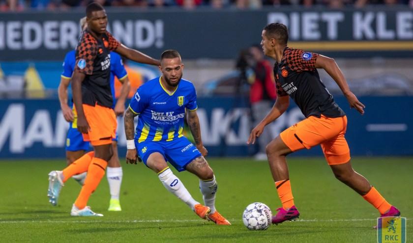 RKC Waalwijk kwam zondagavond thuis tegen PSV nog wel op voorsprong, maar verloor uiteindelijk met 1-3. Foto: Alexander de Peffer