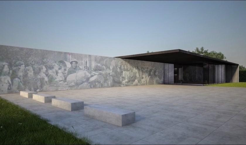 Artist impression van het Maczek Memorial door Oomen Architecten.