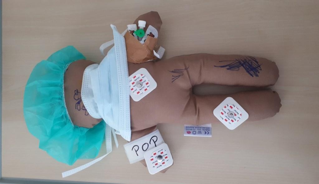 Een Kiwanispop die gebruikt is bij een patiëntje ter verwerking van een behandeling. Foto: PR © DPG Media