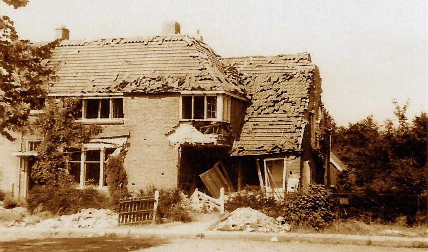 Belmontelaan 10 na het bombardement.