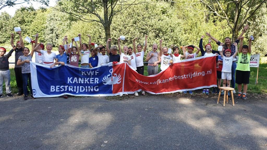 Kinderen kiezen zelf KWF als goed doel Foto: Nancy Oostrom © DPG Media