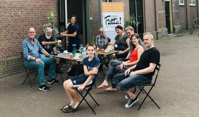 Van links naar rechts: Luuk, Willem, Mariëlla, Martijn, Brenda, Arjan, Mariël, Paul en voormidden Thijn.