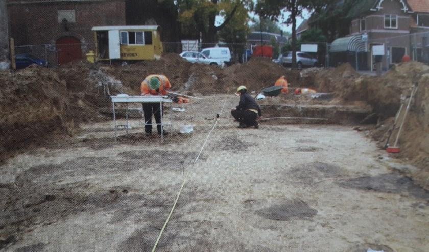 Het archeologisch onderzoek van tien jaar geleden in het centrum van Varsseveld.